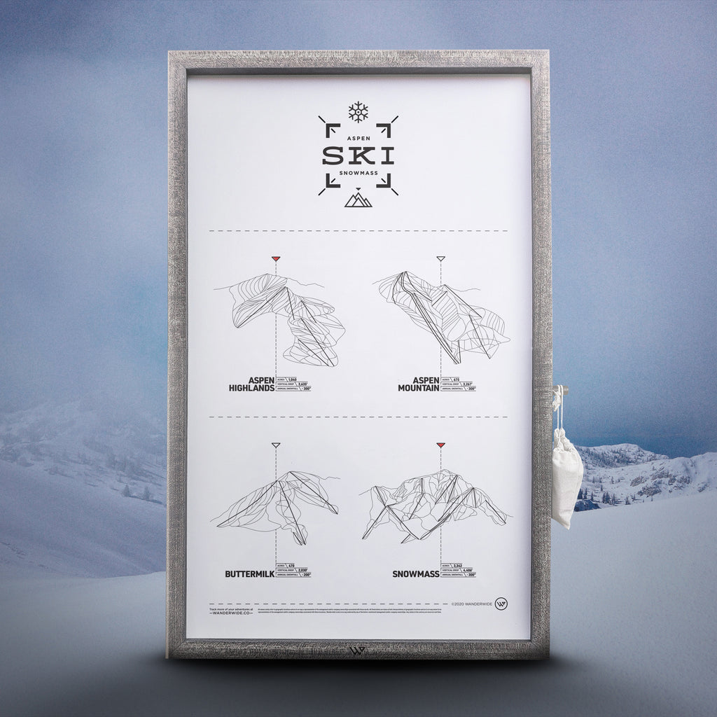 The Aspen Snowmass Ski Register Print