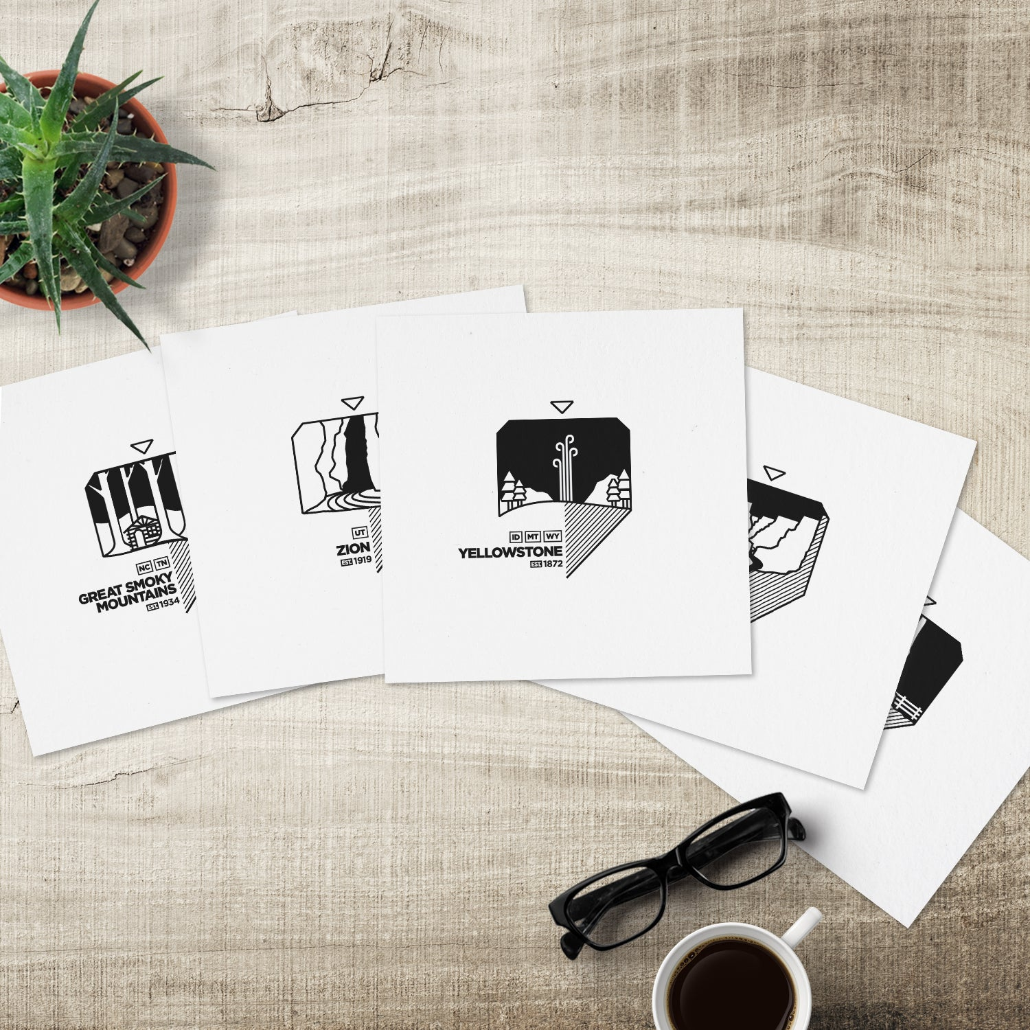 The National Parks Solo Print 5-Pack