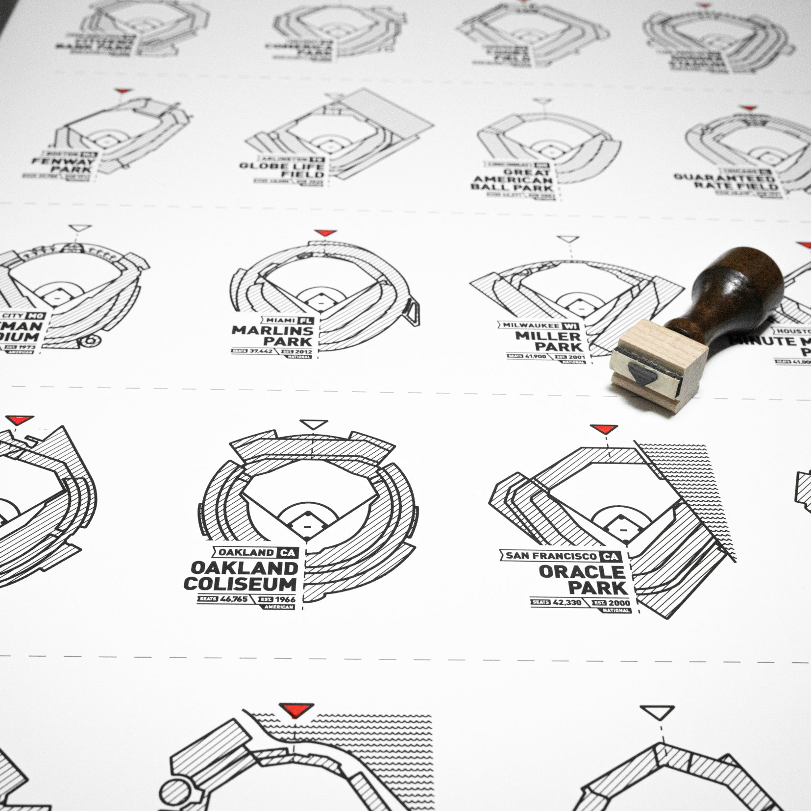 The Baseball Stadium Register Print