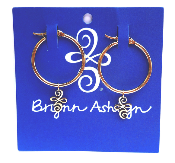 Gold Logo Hoop Earrings