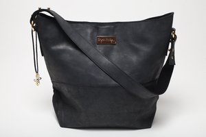 Strength Collection Hobo Tote Bag in Charcoal