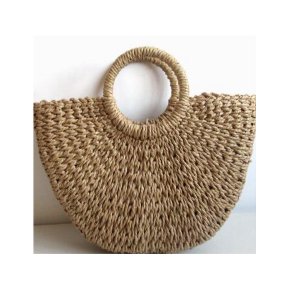 Straw Tote- Toffee