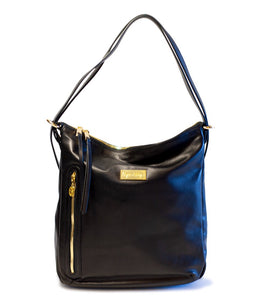 Convertible Backpack- Black with Gold