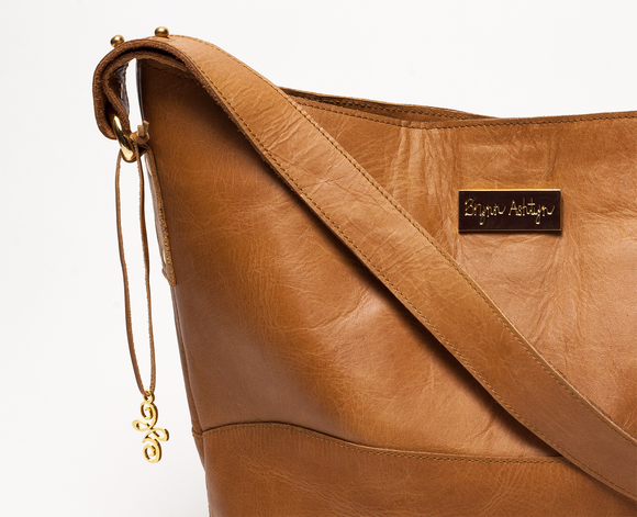 Strength Collection Hobo Tote Bag in Camel