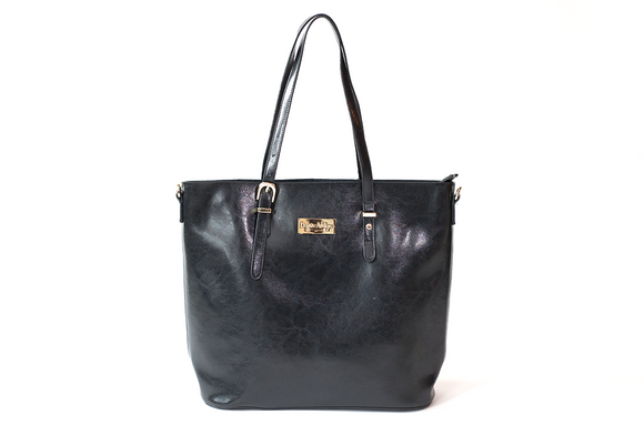 The Hope Collection Tote in Jet Black
