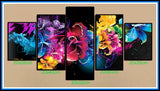 5PC/Set Abstract Flowers Diamond Painting