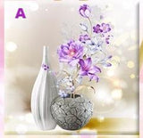 Diamond Flower & Stone Vase Painting