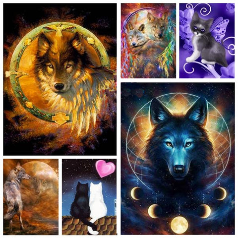 Wolves & Animals Diamond Paintings