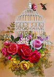 """Bird Cage Flowers"" Diamond Embroidery"