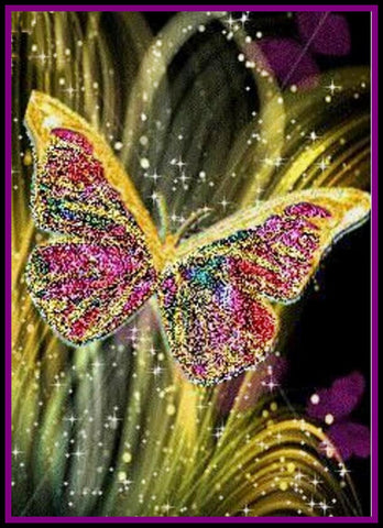 """New"" Beautiful Butterfly Diamond Painting"