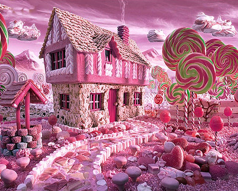Candyland House Diamond Painting