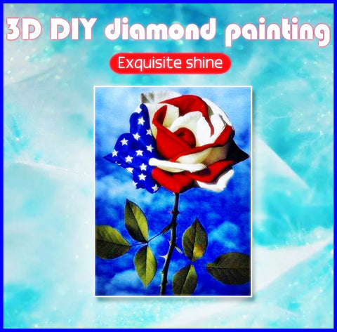 Diamond Painting National Flag Rose