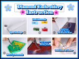 Abstract Eye Diamond Emboridery