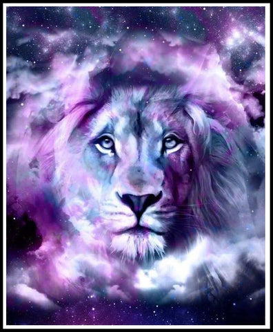 Lion In The Stars Diamond Painting