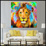 Beautifully Colored Lion Diamond Painting