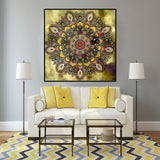 Colorful Flower Mandala Diamond Mosaic Embroidery