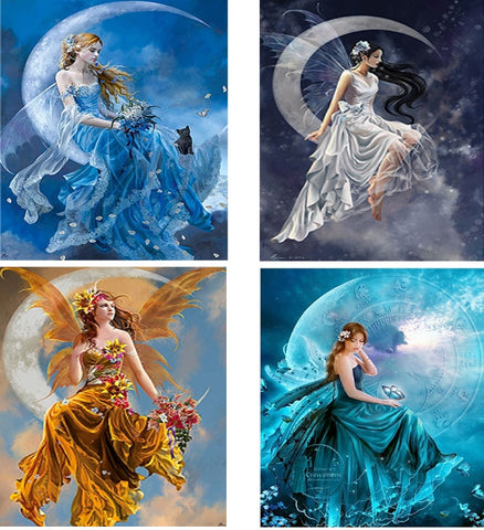 Moon Beauties Diamond Painting