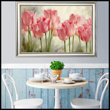 Pink Tulips Diamond Embroidery