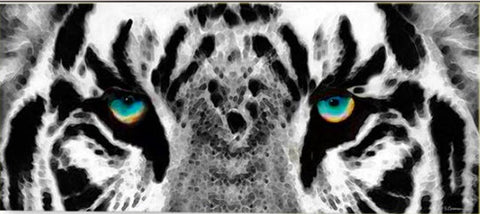 Tiger Eyes Diamond Painting