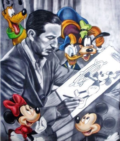Walt Disney Himself Diamond Painting