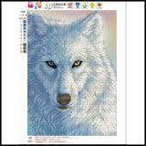 """ New"" Magical White Wolf Diamond Painting"
