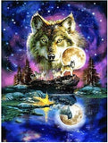 Wolf Under the Moon 5D Diamond Embroidery
