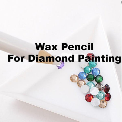 """New"" 20pc/Set White Wax Diamond Painting Pencils"