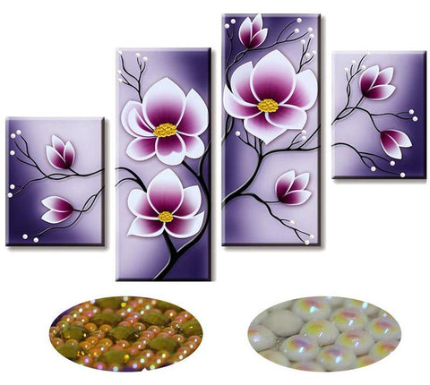 4pc/Set Tulips Diamond Painting