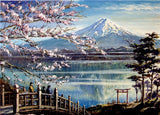 5D DIY Scenic Fuji Cherry Blossoms Diamond Painting