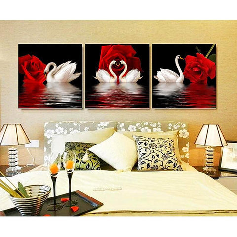 3 Pc./ Set Roses & Swans