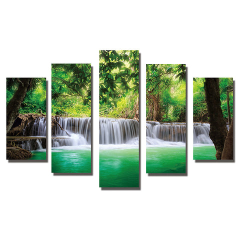 5 pc/ Set Waterfall Forest Diamond Painting