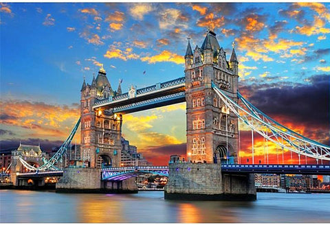 """New"" 5D DIY Diamond Painting, Sunset Over London Bridge"