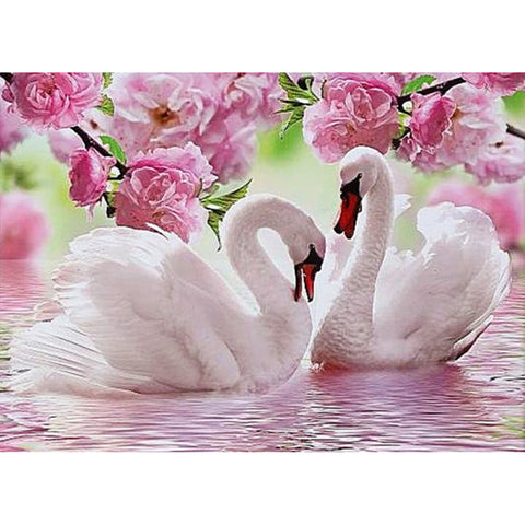 5D DIY Swan Diamond Painting