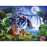 5D DIY Tiger & Waterfall Diamond Painting