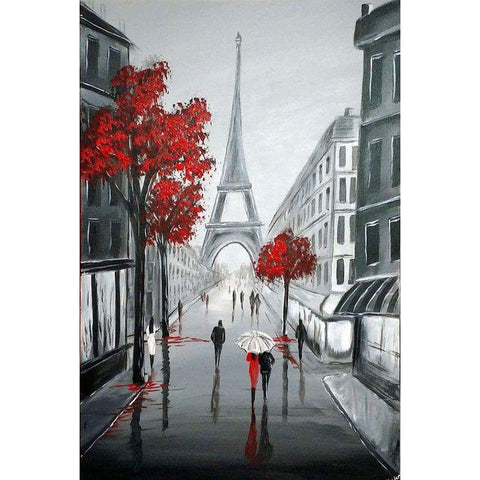 Eiffel Tower Black & Red Series Diamond Painting