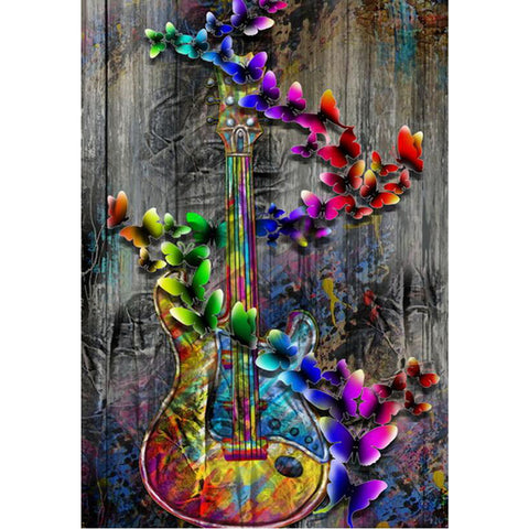 5D Butterfly Guitar Diamond Painting