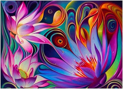 5D  Abstract Flower Diamond Painting
