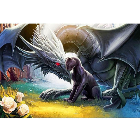 Dragon & Cat 5D Diamond Painting