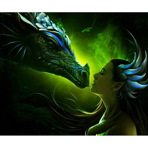 5D Dragon & Beauty Diamond Painting