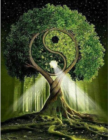 Yin & Yang Tree Diamond Painting