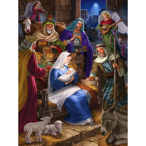 Baby Jesus Birth Diamond Painting
