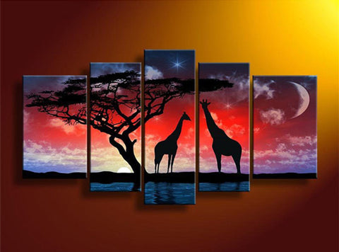 5PC/Set Of Beautiful Safari Animals