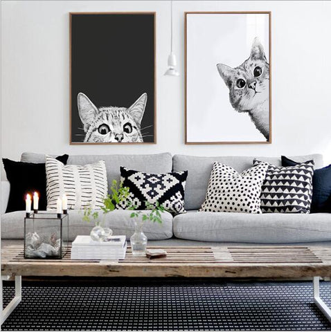 Curious Cats Diamond Rhinestone Paintings