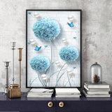 Blue Dandelions Diamond Painting