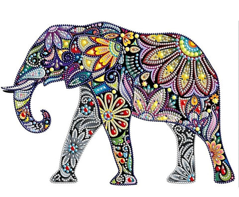 Special Shaped Elephant Diamond Painting