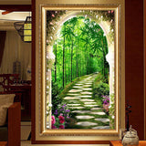 5D DIY Rhinestone Bamboo Forest Diamond Embroidery