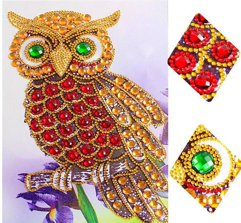 Blinging Owl Special Shape Diamond Painting