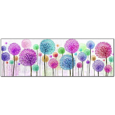 Colorful Dandelion Flowers Diamond Painting