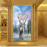 Forest Elk Diamond Crystal Embroidery