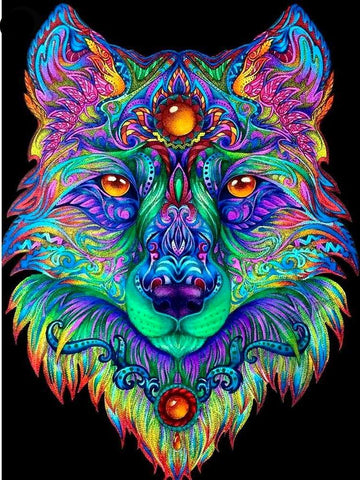 5D DIY Awesome New Wolf Diamond Painting